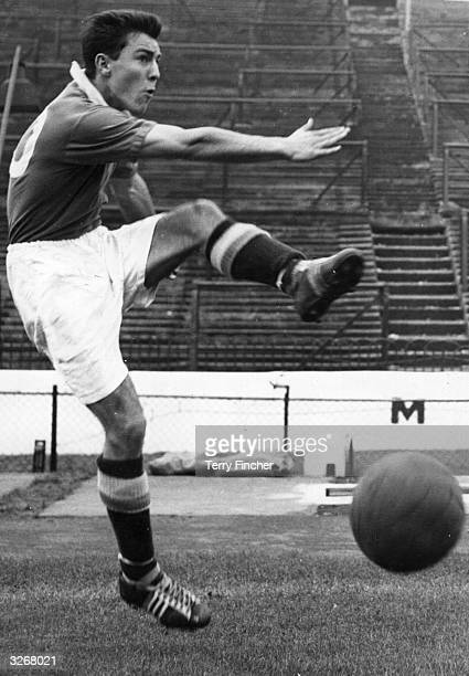 Jimmy Greaves of Chelsea in training at Stamford Bridge for England's match against Ireland.
