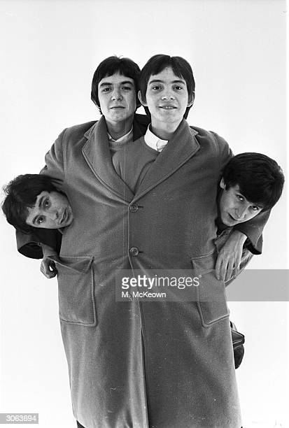 The Small Faces, a popular English Mod band of the late 1960s. Left to right : Jimmy Winston , Ronnie Lane, Steve Marriott and Kenney Jones.