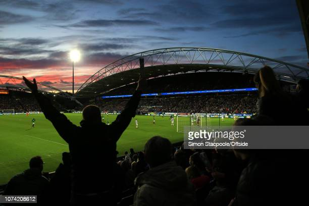 4th November 2017 Premier League Huddersfield Town v West Bromwich Albion A general view of sunset at The John Smith's Stadium