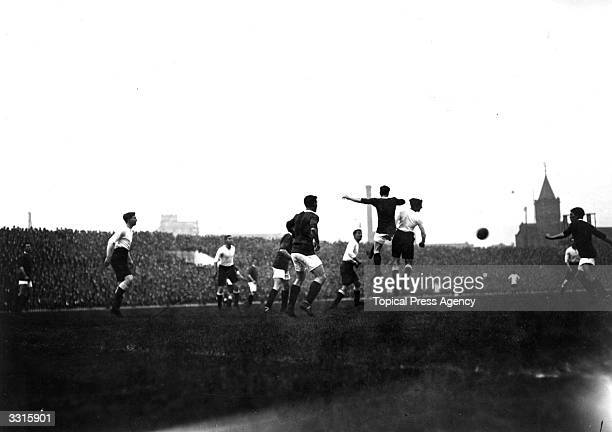 Manchester United in action against Tottenham Hotspur at Old Trafford