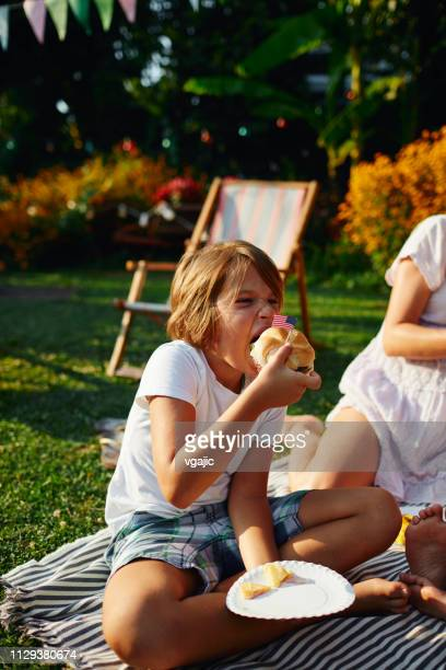 4th of july picnic - cochlear implant stock pictures, royalty-free photos & images