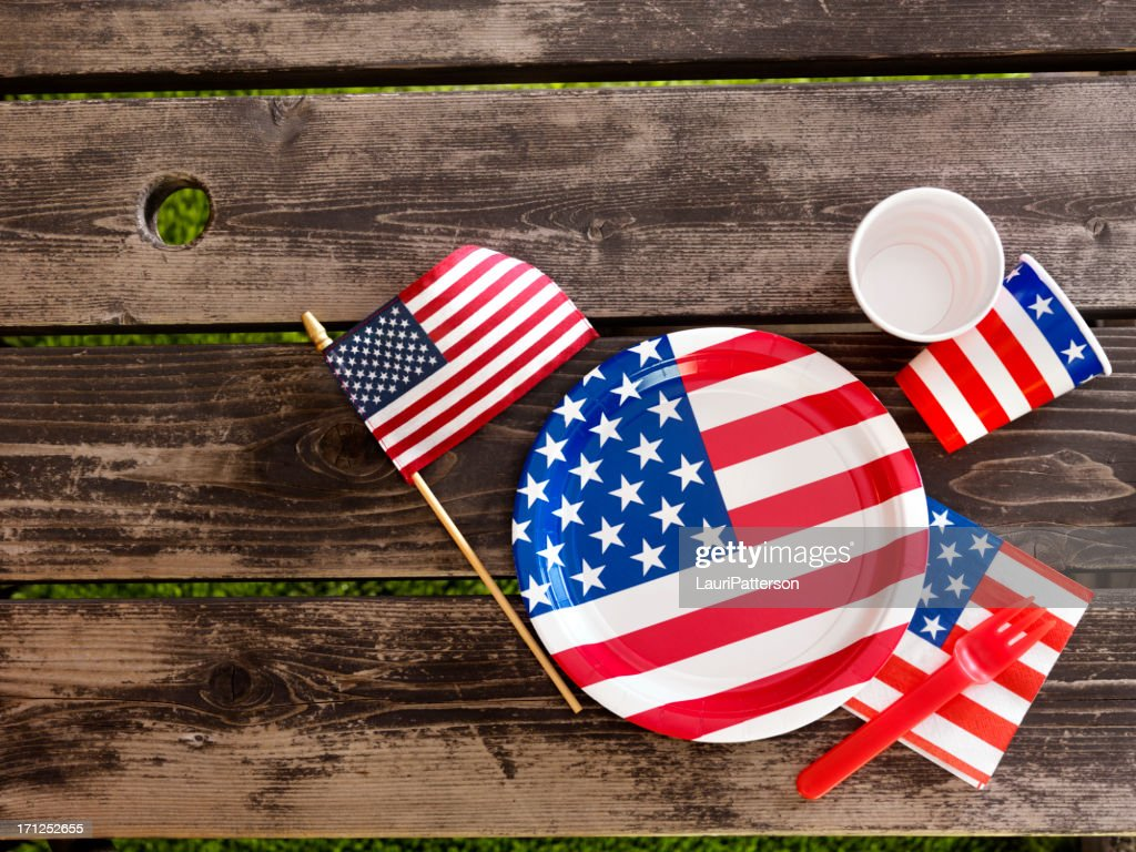 4th of July Picnic : Stock Photo