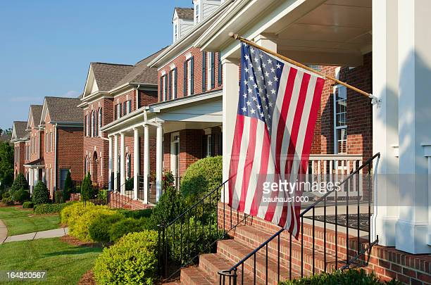 4th of july - brick house stock pictures, royalty-free photos & images