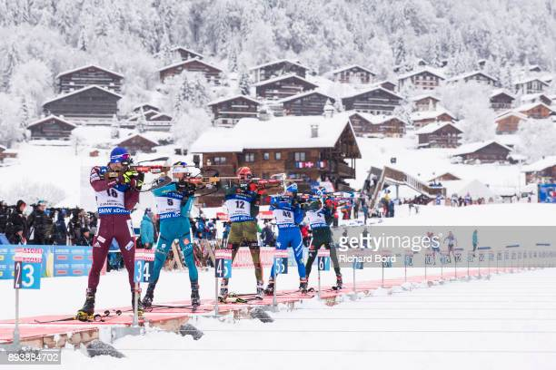 4th place Alexander Loginov of Russia, 6th place Simon Desthieux of France, 8th place Benedikt Doll of Germany, 7th place Lukas Hofer and 5th place...