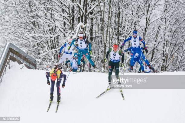 4th place Anastasiya Kuzmina of Slovakia, 12th place Denise Herrmann of Germany, 1st place Justine Braisaz of France, 29th place Lisa Vittozzi of...