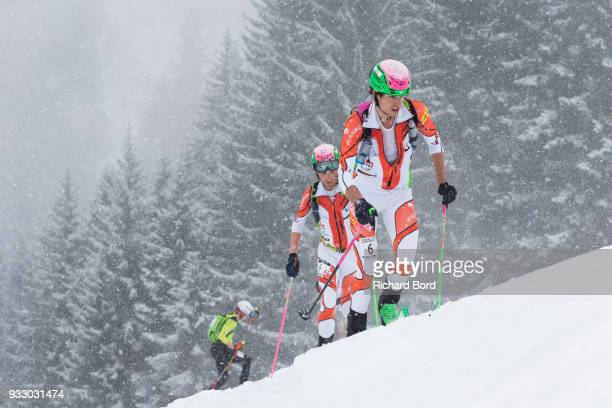 4th place Oriol Cardona and Marc Pinsach Rubirola of Spain compete during the 33rd Pierra Menta on March 17 2018 in Beaufort France