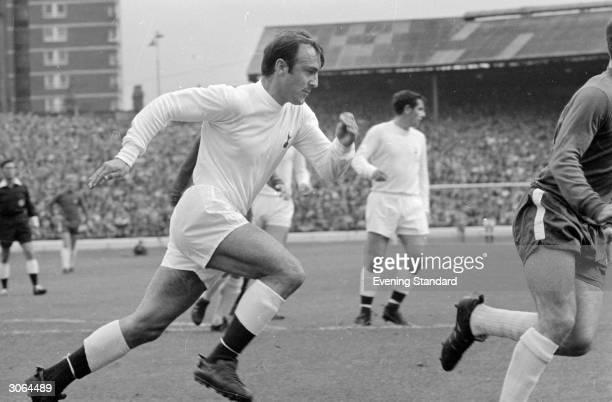 England and Tottenham Hotspur footballer Jimmy Greaves.