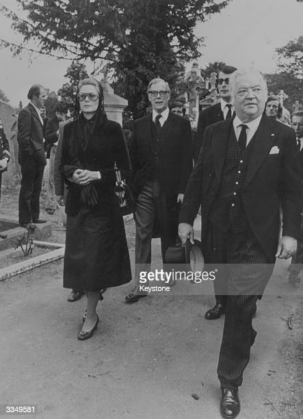 Princess Grace of Monaco at the funeral of Irish republican leader Eamon de Valera in Glasnevin Cemetery Dublin