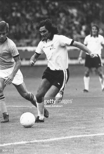 George Best in action during his first match for Fulham against Bristol Rovers.