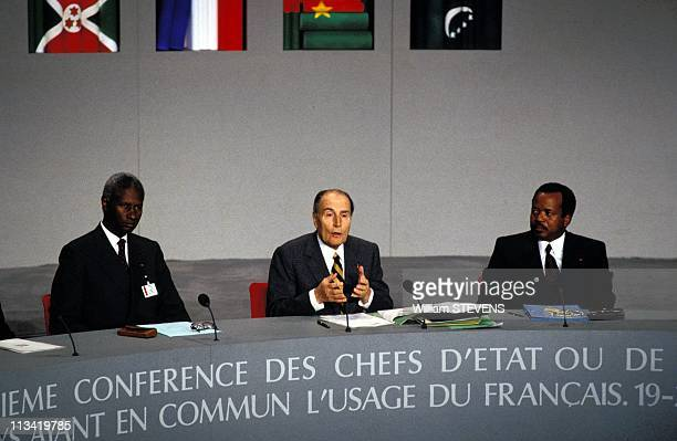 4th Summit Of La FrancophonieOn November19th 1991