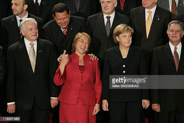 4Th Summit Of The European Union Latin America And The Caribbean On May 12Th 2006 In Viena Austria Here Chilian President Michelle Bachelet Jeria...