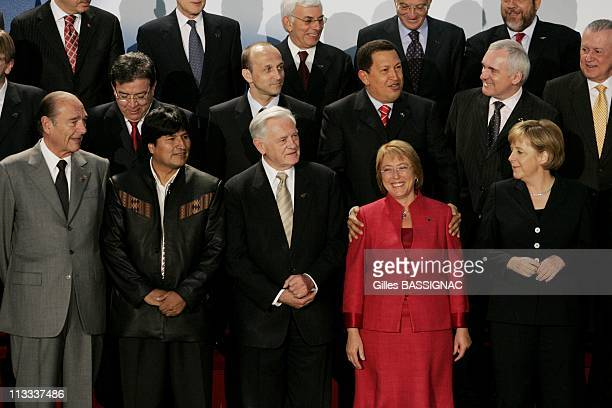 4Th Summit Of The European Union Latin America And The Caribbean On May 12Th 2006 In Viena Austria Here French President Jacques Chirac Bolivian...