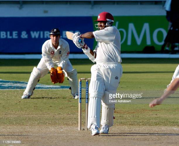 4th TEST 1st DAY ENGLAND V WEST INDIES AT THE RECCREATION GROUND ANTIGUA 10/4/2004 BRIAN LARA OFF JONES.