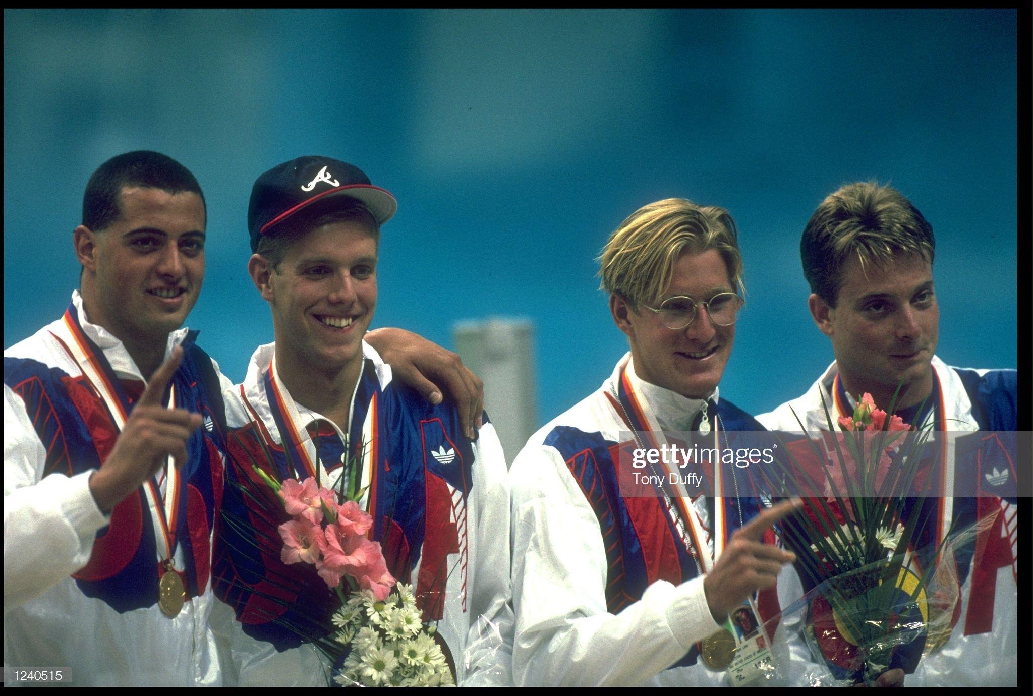 SWIMMING RELAY TEAM USA OLYMPICS : Fotografía de noticias