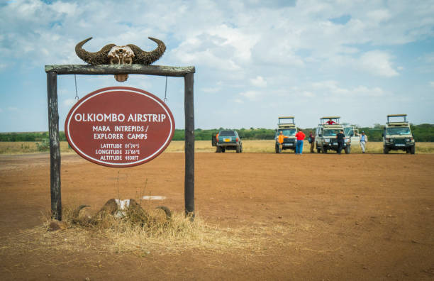 4x4 Jeep off road Vehicles parking in Olkiombo airstrip