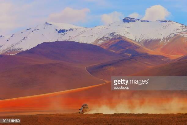 4x4 off-road car going to Atacama Desert -  Volcanic landscape, Bolivian Andes - Potosi – Bolivia