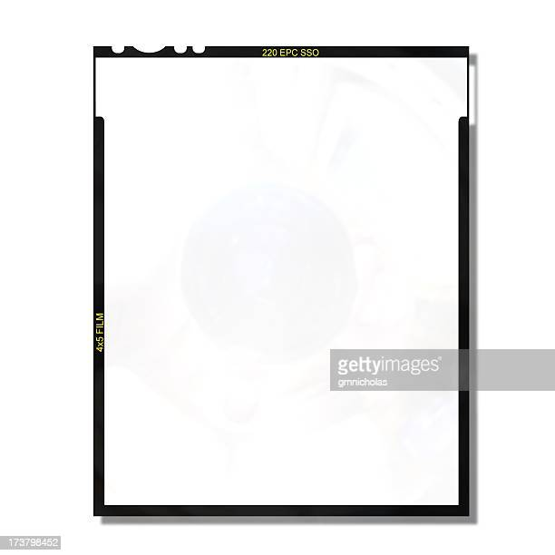 4x5 blank film frame - camera film stock photos and pictures