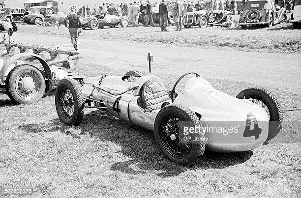 500cc F3 car in the pits at Castle Combe England 3 April 1954