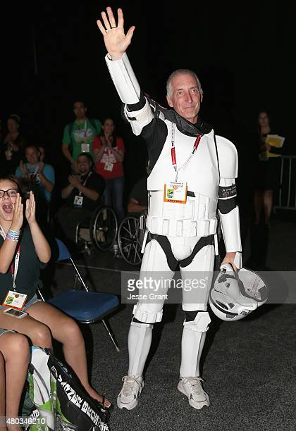 501st Legion member Kevin Doyle at the Hall H Panel for 'Star Wars The Force Awakens' during ComicCon International 2015 at the San Diego Convention...