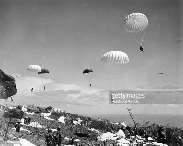 503rd Parachute Regiment of the U.S. Landing on Corregidor Island in the Philippines. Corregidor, February 1945