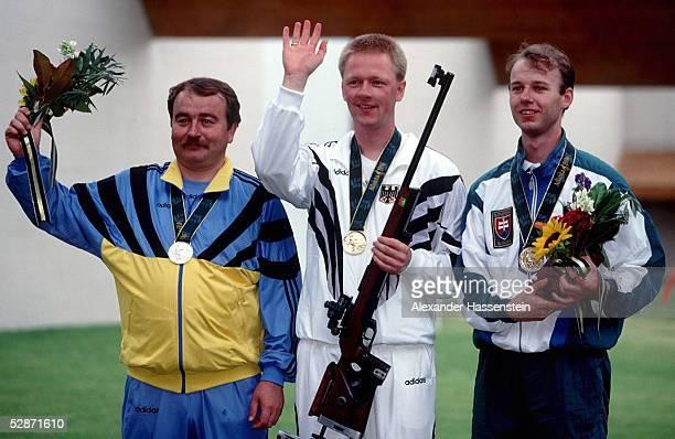 SCHIESSEN 50m Freies Gewehr stehend Maenner/ATLANTA 1996 am 25796 Sergey BELIAEV KAZ /Christian KLEES GER /Josef GONCI SVK