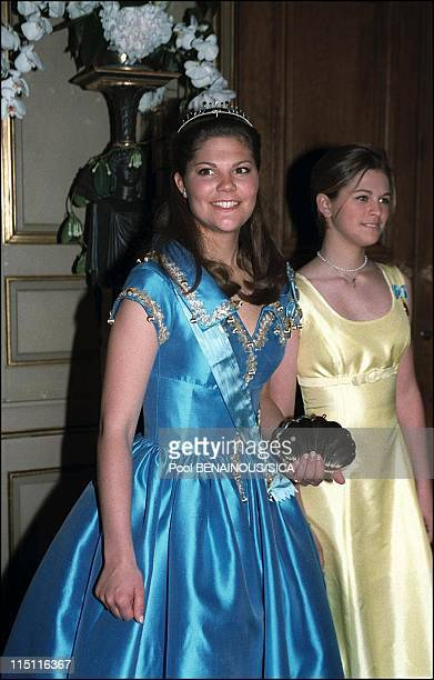 50th anniversary of king Carl Gustav of Sweden in Stockholm Sweden on April 30 1996 Victoria and Madelaine
