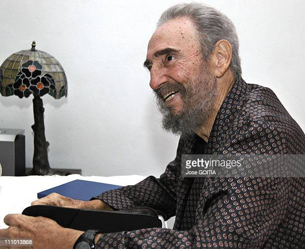 50th anniversary of the Cuba revolution in Manzanillo Cuba on Febuary 01st 2009 Cuban President Fidel Castro was seen on Sept 13 2006 after a surgery...