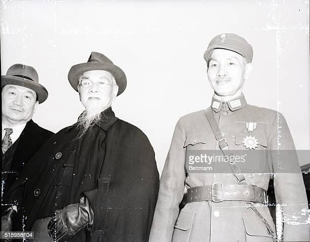 5/11/1943Chungking China MEETING WITH THE CHINA YOUTH CORPS LEADERS The three most important men in China Left to right are Dr H H Kung Minister of...
