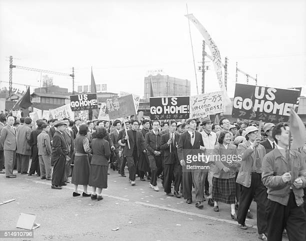 5/1/1953Tokyo JapanJeering mobs of May Day marchers clashed with steelhelmeted police in downtown Tokyo on May 1st ending a relatively quiet...
