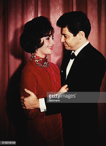 5/12/1959Las Vegas NV Picture shows singer Eddie Fisher and actress Elizabeth Taylor after their wedding ceremony at Temple Beth SHalom There were no...