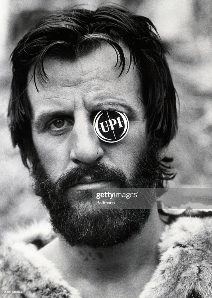 Close Up Of Ringo Starr Taken During A Break In The Filming Caveman