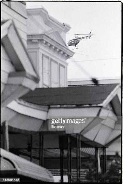 5/13/1985Philadelphia PA A state police helicopter flies over the MOVE house in Philadelphia preparing to drop a percussion bomb on the roof The bomb...