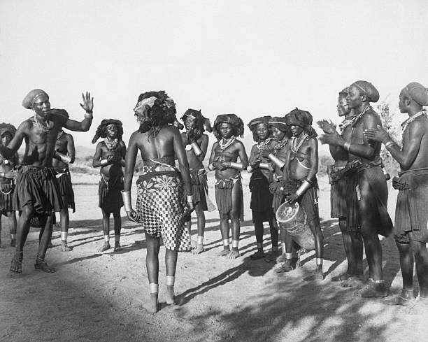 angloan tribes in circle dance pictures getty images