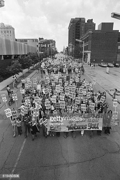 5/16/1976Springfield IL Thousands of supporters of the ERA amendment marched to the Illinois state capitol 5/16 Among the speakers at the rally were...