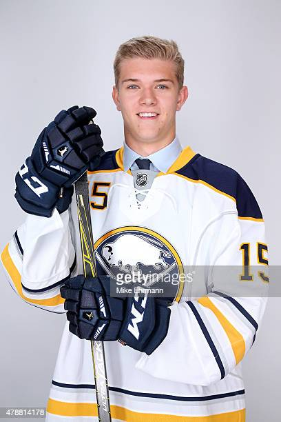 51st overall pick Brendan Guhle poses for a portrait during the 2015 NHL Draft at BBT Center on June 27 2015 in Sunrise Florida