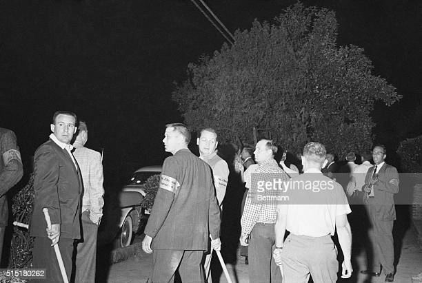 5/21/1961Montgomery AL US Marshals stop a mob from getting any closer to the First Baptist Church where integration leader Reverend Martin Luther...