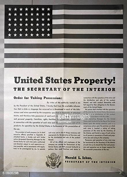 """Washington, DC- Sent to mine owners all over the nation was this letter, """"Order for Taking Possession"""" to be posted in a prominent place in the..."""