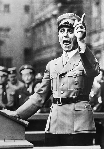 Dr Paul Joseph Goebbels shown above during a fanatical speech in Sept 1934 the Soviet High Command early today reported that Adolf Hitler and his...