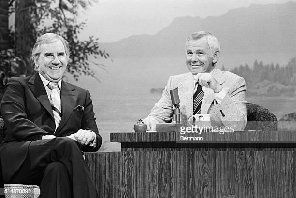 "Hollywood, CA: Promising never to ""dog"" the show, Johnny Carson told his TV audience that he will stay on as host of his late night program all of..."