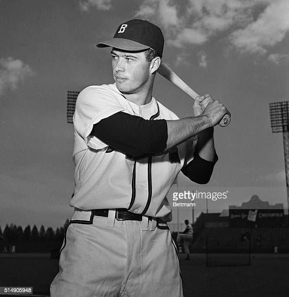 5/22/1952Boston MA Ed Mathews Boston Braves' 20yearold third baseman who has been impressing fans with his long ball hitting shows his favorite...