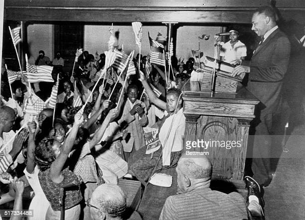 5/22/1963Birmingham AL Hundreds of students were on hand to greet Reverend Martin Luther King at the St James Baptist Church after it was learned...