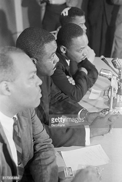 5/23/1961Montgomery AL Negro integration leaders announce at a press conference that they are going to continue their 'Freedom Rides' through the...