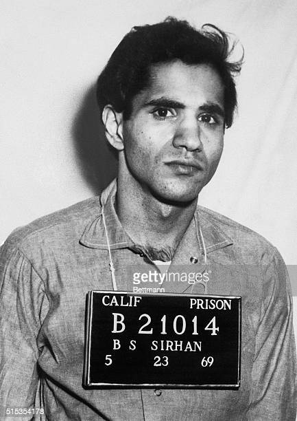 5/23/1969San Quentin CA Sirhan Sirhan became Convict No B21014 at San Quentin Prison 5/23 Sirhan's official prison photo is shown here The 25yearold...
