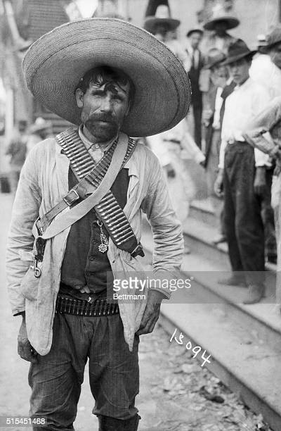 5/25/1914Tampico Mexico Portrait of a typical armed rebel