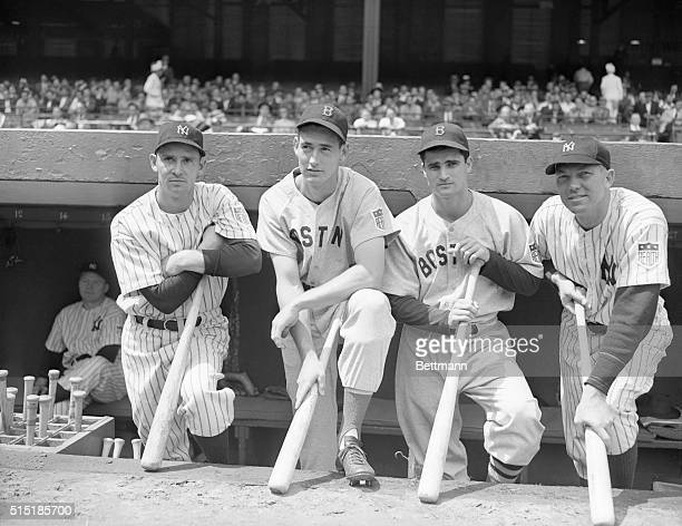 5/25/1942New York NY Here are four American League batsmen that make things very tough for the pitchers they face They are shown at the Yankee...