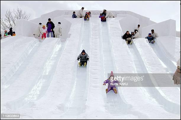 52Nd Sapporo Snow Festival In Japan On February 07 2001 Radial Slides at Makomanai