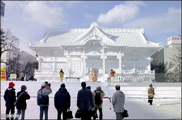 52Nd Sapporo Snow Festival In Japan On February 07 2001 Taiyuin Mausoleum in Rinnoji Temple Compound on Nikkozan 13m Height25m Width 20m Depth