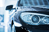 BMW 530d Car Head lights
