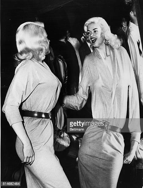 5/31/1961New York NY A notsoplain Jayneactress Jayne Mansfield that isenjoys the long streched distortion of her famous figure in this fun mirror at...