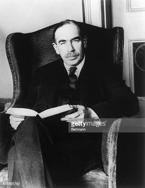London, England-Mr. J. Maynard Keynes, the famous economist pictured at his home in London, predicts that the Liberals will win eighty-five seats...